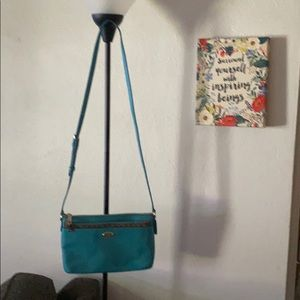 Coach Dark Teal Crossbody purse